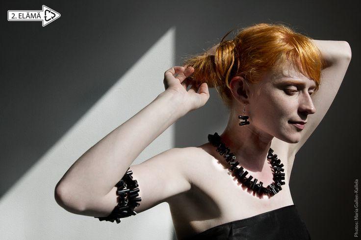 LAKU necklace and earrings