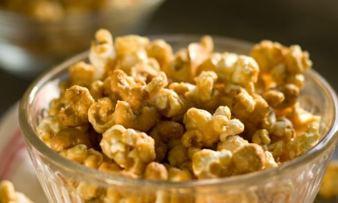 Someone at church made the most delicious caramel corn.  I'm hoping this turns out similar.  It was very buttery and rich tasting.