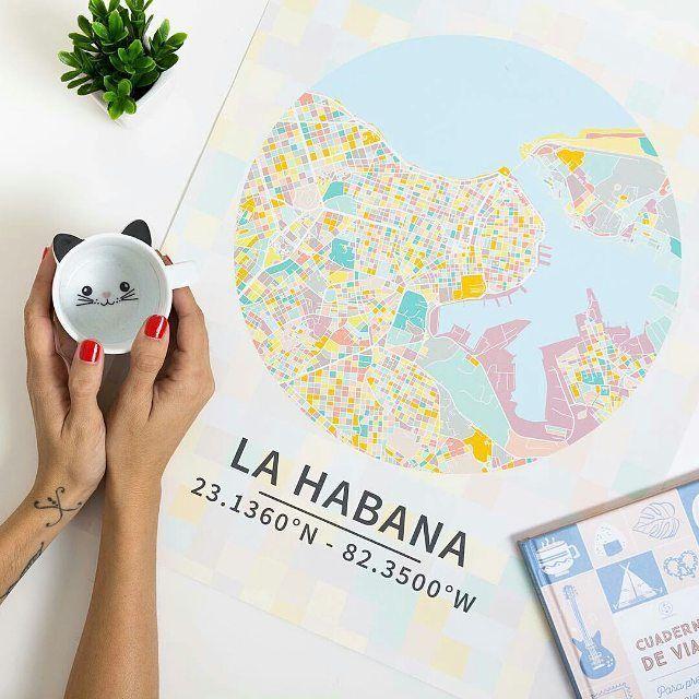 Hay modelos tan bonitos que son capaces de embellecer cualquier pared. .  @tamara_st_ #coordenadasconrecuerdos #tusmapas #mapaspersonalizados #deco4all #homesweethome #lifestyle #lahabana #map #traveladdict #travelmemories #color  http://ift.tt/2haK9xY