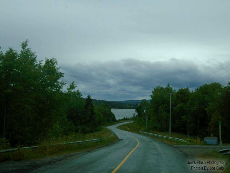 Saint John River downhill near Woodstock new Brunswick