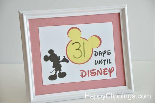 Printable Disney Vacation Countdown
