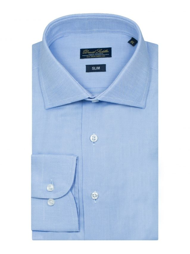 The sky blue shirt Firenze for men leaves no room for doubt: excellent quality and unparalleled style. The refined united honeycomb fabric, worked according to the most polished traditional techniques gives the garment excellent quality and added value.