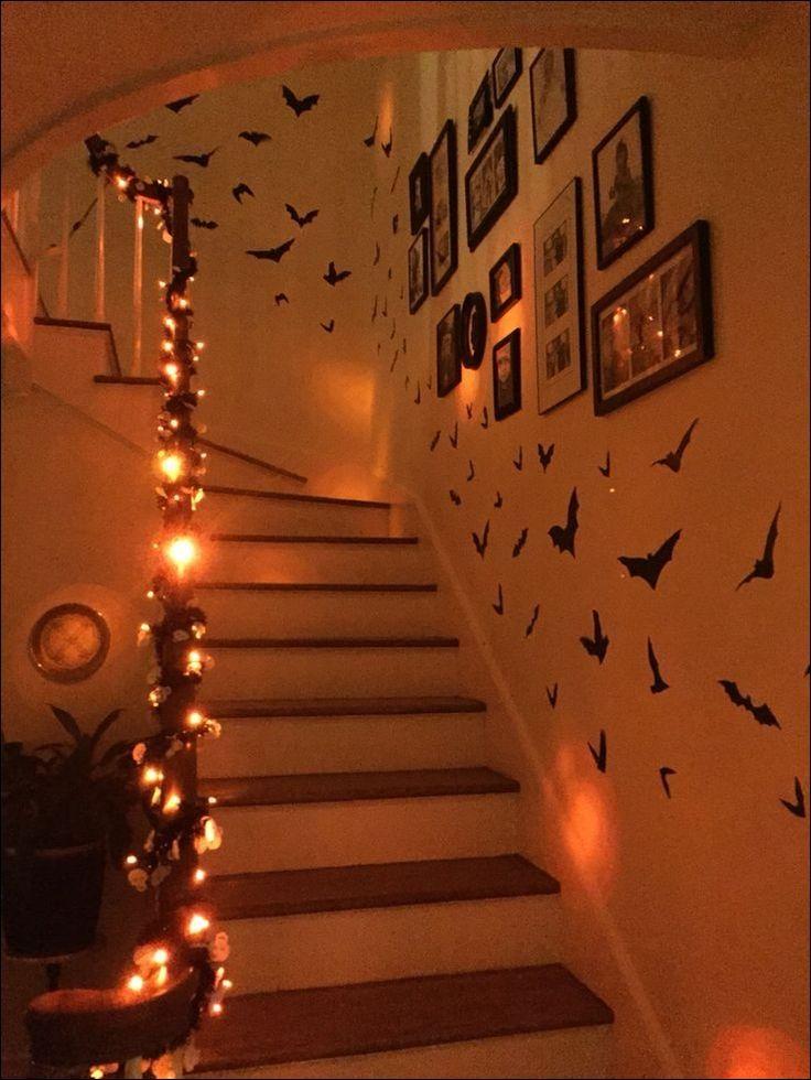 Halloween decor staircase ideas