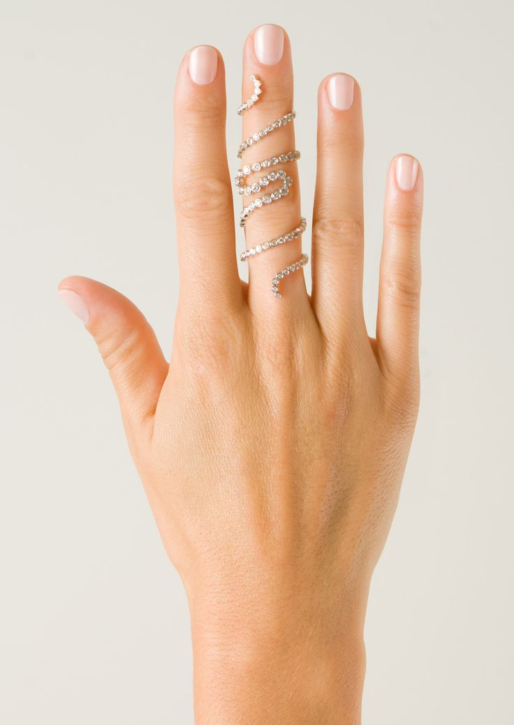 Elise Dray Rings :: Elise Dray Spirale ring in white gold and grey diamonds | Montaigne Market