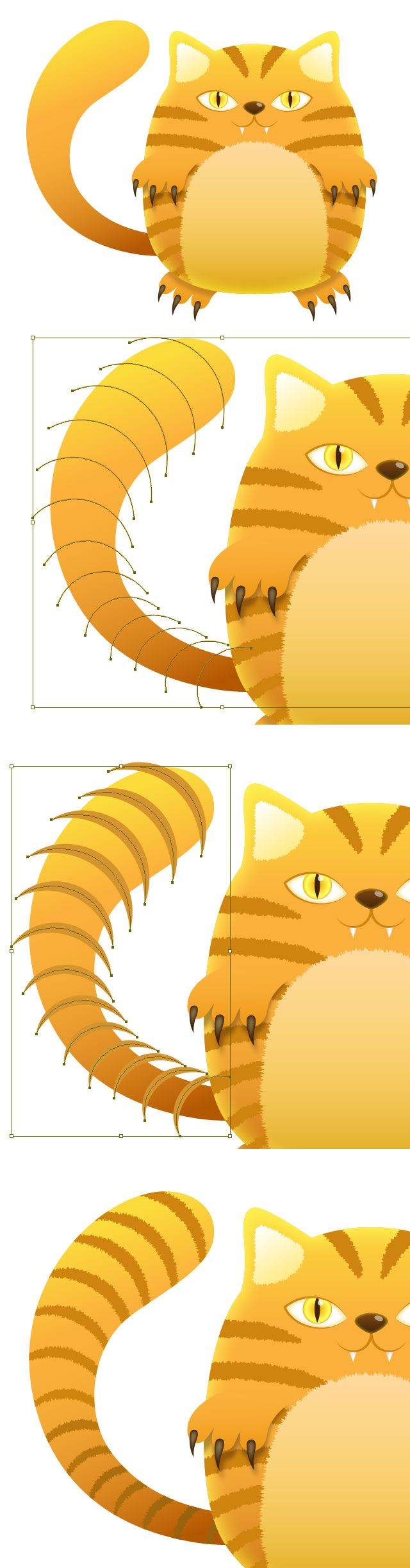 Create a Tiger Striped Cat with Illustrator