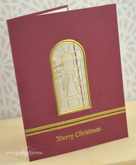 Gilded Window Card by nichole - gold embossing on clear cardstock, love it!