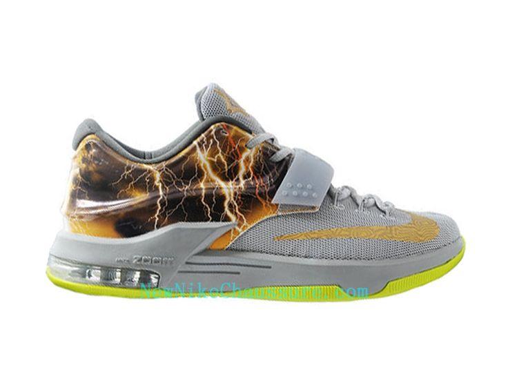 Nike KD 7 iD - Chaussure De Basket-ball pour Homme Pas Cher Gris Or