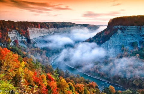 This is Letchworth State Park in Western NY USA. http://nysparks.com/parks/79/details.aspx