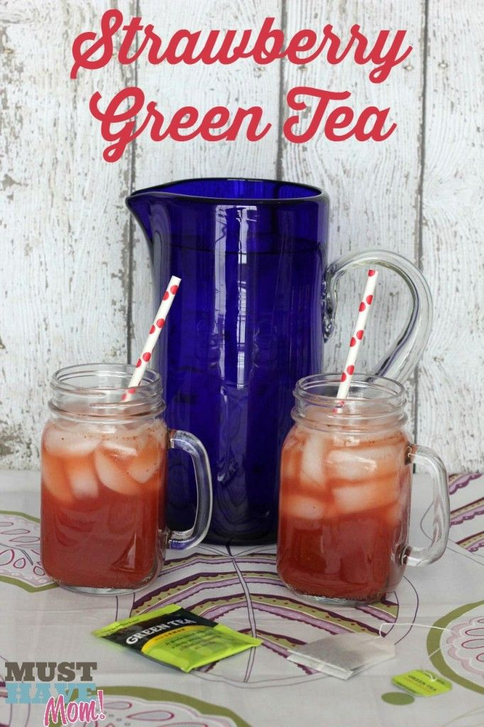 Strawberry Green Tea Recipe - Must Have Mom #TrendTea #Shop