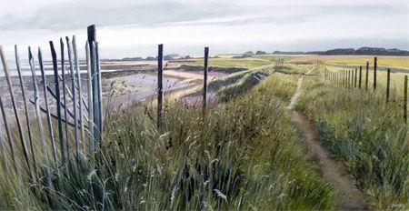 "FORFAR: Meffan Museum and Gallery. Jim Dunbar RSW. To 16 Nov.  Image: Scottish Artist Jim Dunbar ""Towards Easthaven"""