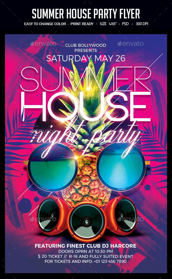 Pin by best Graphic Design on Awesome Summer Party Flyers Party