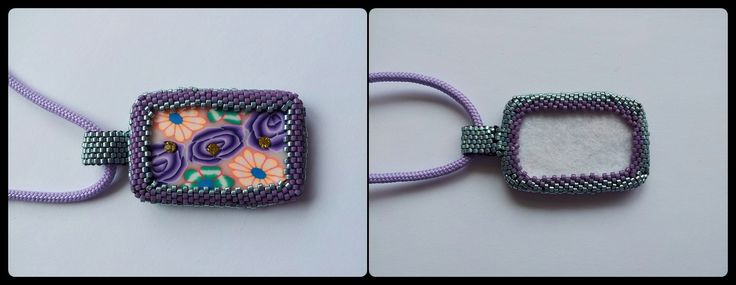 Peyote Beaded Pendant Hand crafted by me , many hours of work. Single sided. Quality Miyuki Beads. Polymer clay Pendant ( not made by me) $25 + postage (AU)