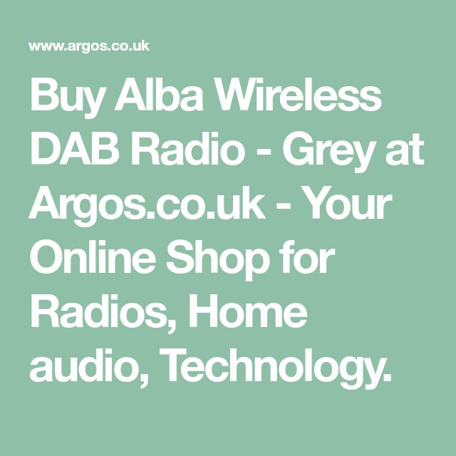 Buy Alba Wireless DAB Radio - Grey at Argos.co.uk - Your Online Shop for Radios, Home audio, Technology.