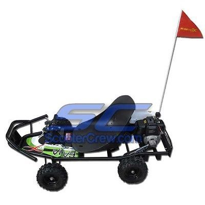 Complete Go-Karts and Frames 64656: Gas Go Kart 2 Stroke Motor All Terrain Kids Vehicle Pull Start Atv 2 Wheel Drive BUY IT NOW ONLY: $529.95