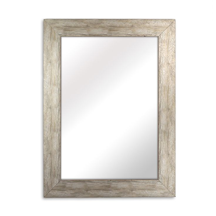 Raphael Rozen - Elegant - Modern - Classic - Vintage - Rustic - Hanging Framed Wall Mounted Mirror, Distressed Wood Finish, Gray - White Color. Modern, Classic, Vintage framed mirror, Distress Wood Finish, White. Made of poly styrene - wood like material. Ready to Hang - Horizontal or Vertical. Perfect for bathroom, entrance hall or any room; no assembly required. Several sizes to choose from; 20 inches x30 inches, 30 inches X 30 inches, 30 inches x 40 inches, 34 inches x 44 inches....