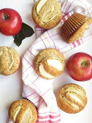 Pohankové perníkové mufiiny s jablky