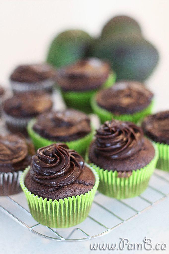 Cupcake de Chocolate e Abacate