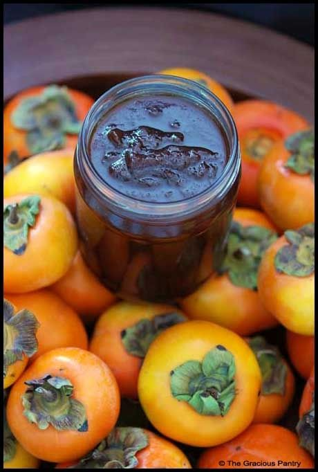 Persimmon Butter and Syrup