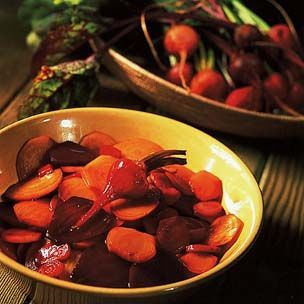 Roasted Red and Yellow Beets with Balsamic Glaze - recipe by Williams Sonoma