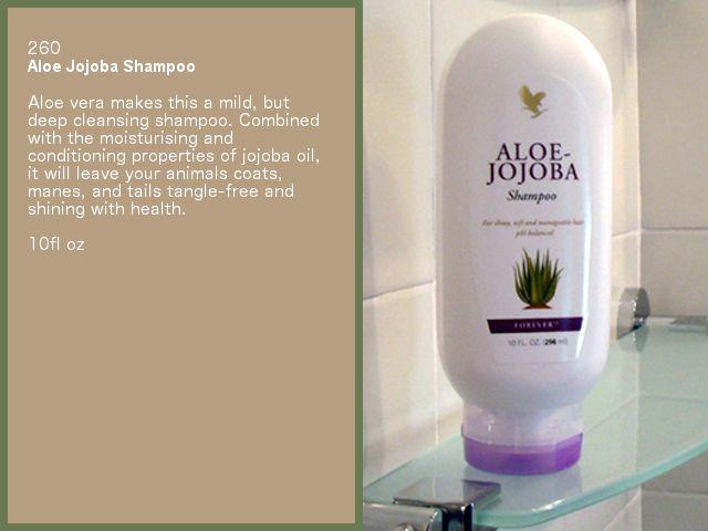 Aloe Jojoba Shampoo. Available from www.katedixon.myforever.biz