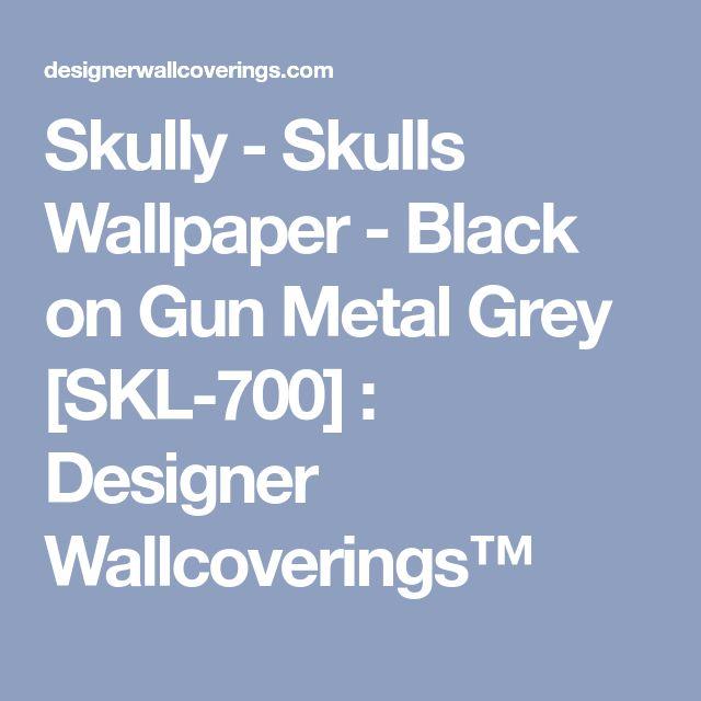 Skully - Skulls Wallpaper - Black on Gun Metal Grey [SKL-700] : Designer Wallcoverings™