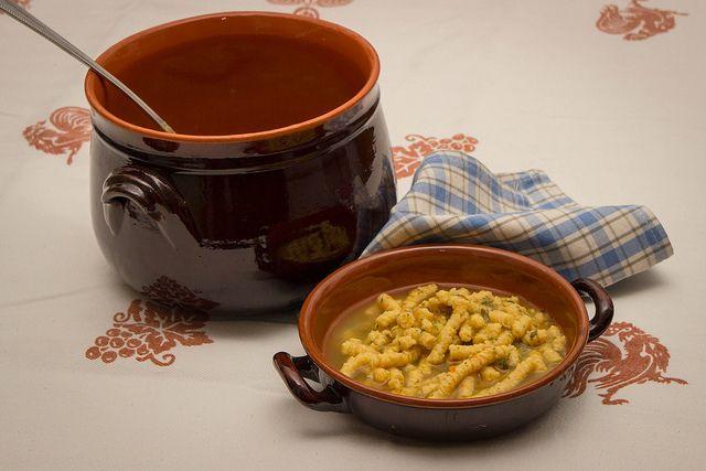 Passatelli in Brodo, a traditional recipe prepared in Romagna, Italy
