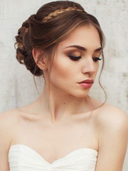 Свадебная прическа на волосы до плеч - 76