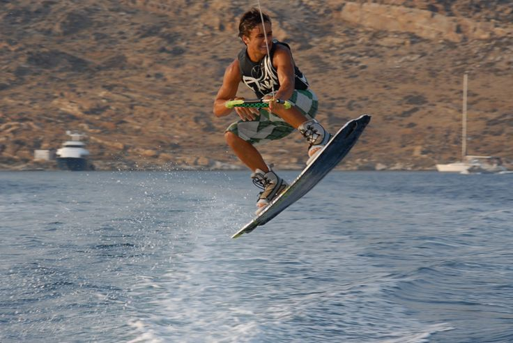 Wakeboarding in Paros: Its long, wide sandy beaches are family heaven and there is a huge variety of activities and entertainment. #FiveStarGreece #LuxuryVillas #HolidayMatchmakers