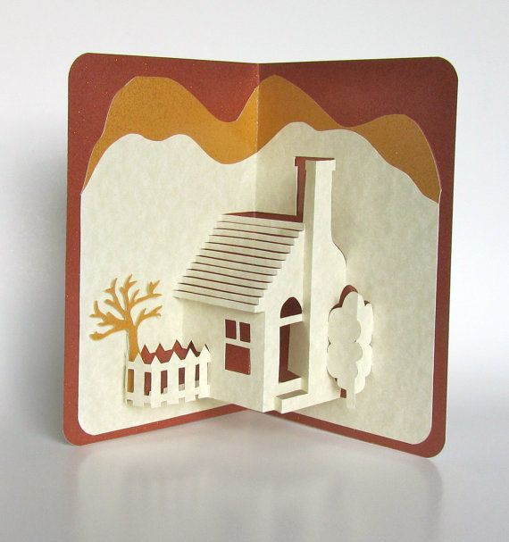 Pop-up 3D card, Home Décor Origamic Architecture by BoldFolds