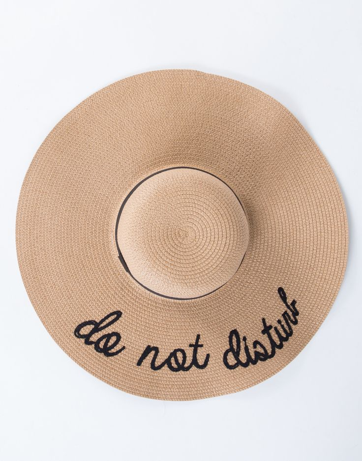 Do Not Disturb Floppy Hat #2020AVExLET'SGETAWAY This is freaking adorable!