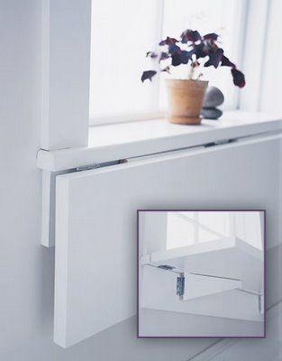 fold down shelf under window sill                                                                                                                                                                                 More