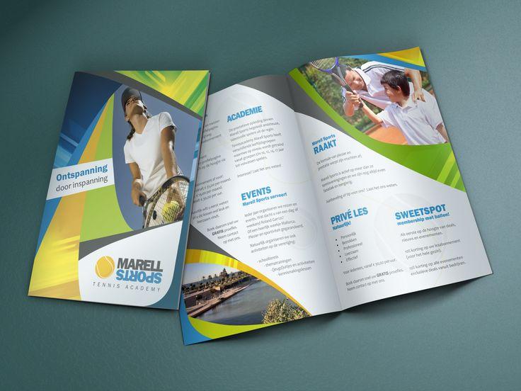 De kernactiviteit van Marell Sports is het verzorgen van tennistrainingen. Hiervoor presenteren zij een totaalpakket met trainingen voor zowel de recreatieve als de prestatieve tennissers en een totaalpakket aan diensten (verzorgen en verwerken van inschrijfformulieren, versturen van bevestigingen, factureren en het verwerken van betalingen) aan verenigingen en bedrijven.  Om dat duidelijk naar buiten te brengen hebben we tezamen een brochure ontworpen. (Designed by Gloed)