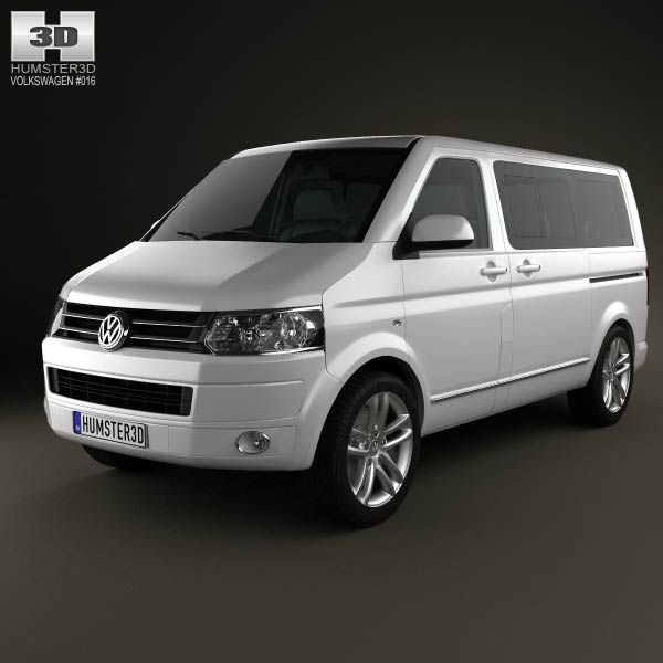 Volkswagen Transporter T5 Caravelle Multivan 2011 3d model from humster3d.com. Price: $75