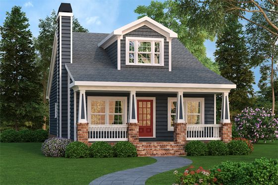 House Plan 419-254 I love the second level!  It needs a garage.  I would take out dining room and make a laundry room, mud room and half bath.