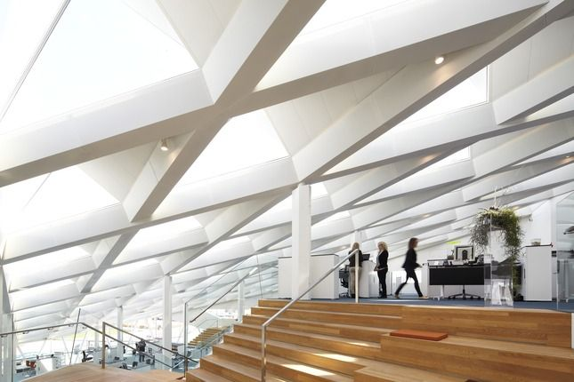 17 best images about ceiling design on pinterest creative ceiling design and offices - Wood slat ceiling system ...
