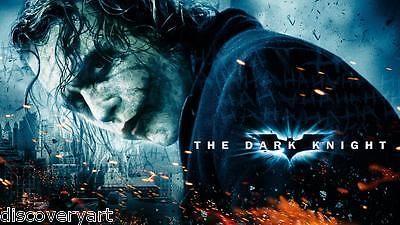 Batman the dark night #movie poster canvas art the #joker film #print heath ledge,  View more on the LINK: http://www.zeppy.io/product/gb/2/262202513888/