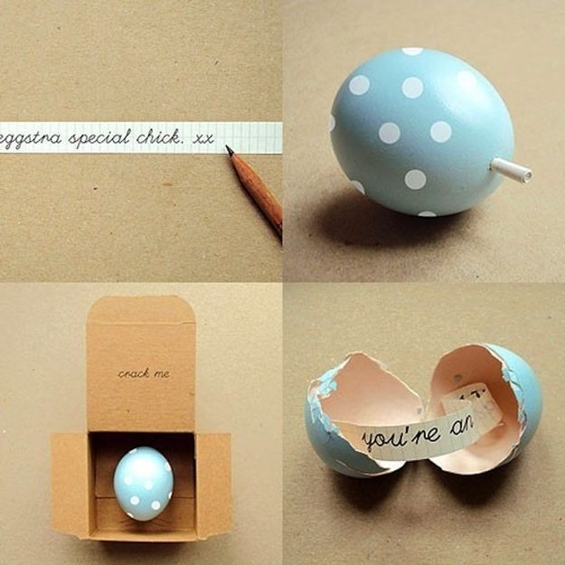 Easter Egg Love Note | 37 Adorable And Unexpected Easter Egg DIYs