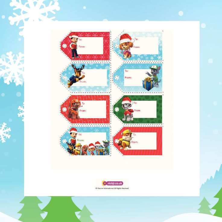 Want to add some PAW Patrol magic to your Christmas gifts? Print and cut out these tags based on the Nick Jr. series!