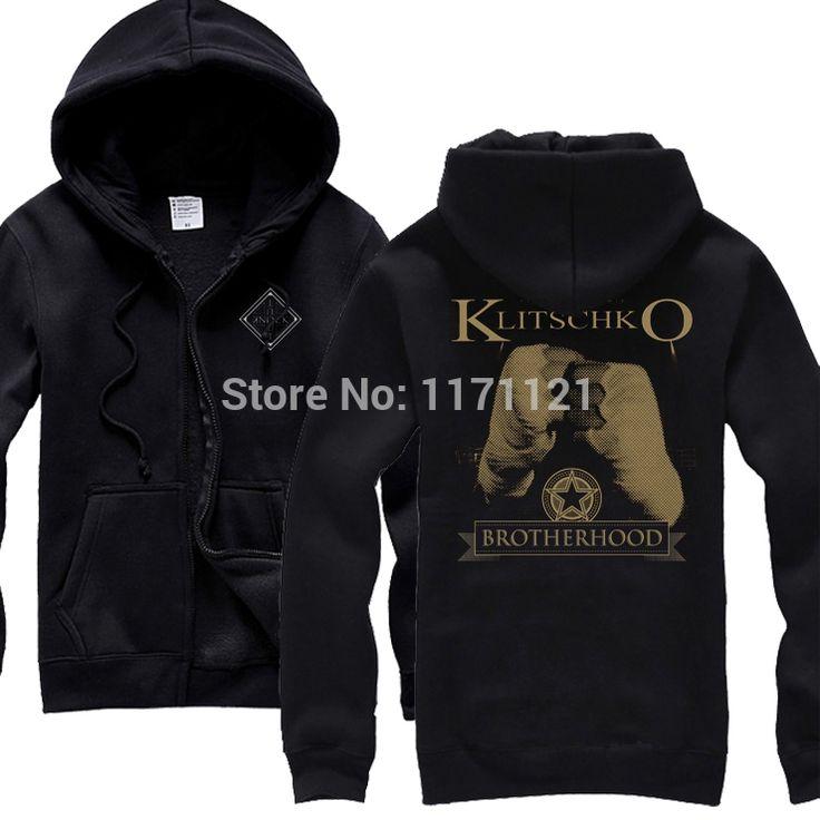 Free shipping  Vitali Klitschko Fighting  black hoodie