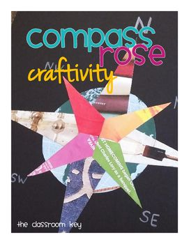 Compass Rose Craftivity.  Free TpT link w/ the templates