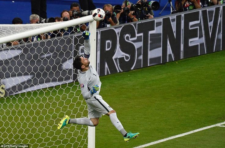 The Euro 2016 hosts were given a scare when Lloris misjudged a Nani cross into the box lat...