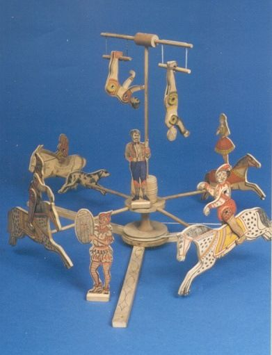 Late 19th Century wooden circus toys