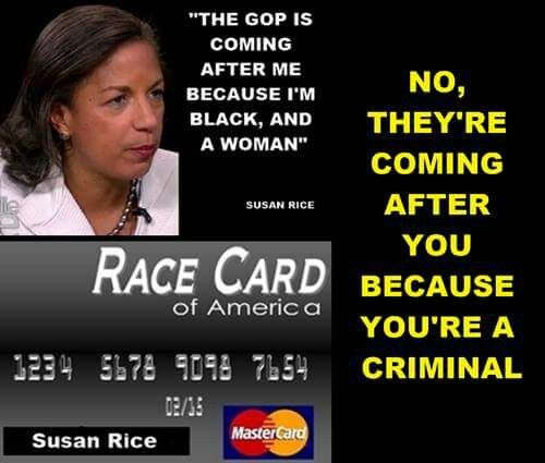 Racist play the race card...