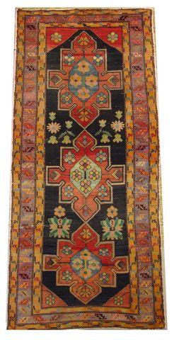 4'2x9'3 Kolyai Hand Knotted Romania circa 1940