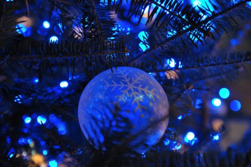 blue is a magical christmas color theme just bright and deep glowy goodness