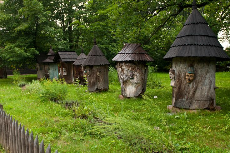 Apiaries in The Wooden Townlet (Wallachian Open Air Museum, Rožnov pod Radhoštěm)