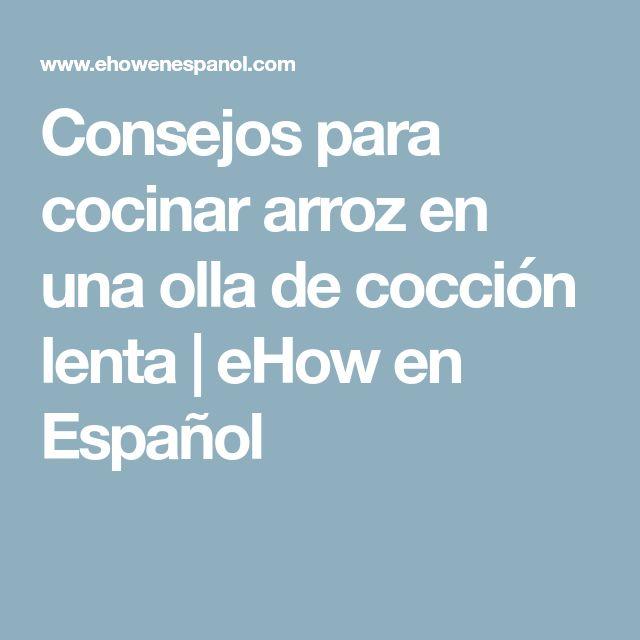 Consejos para cocinar arroz en una olla de cocción lenta | eHow en Español