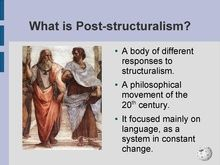 Image result for post structuralism in language