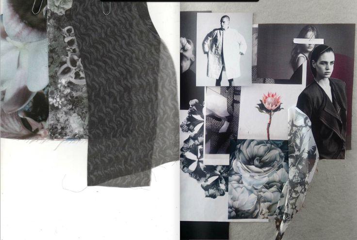 Fashion Moodboard - fashion design research & concept development; creative process // Amy Dee