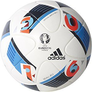 adidas European Qualifier OMB Ballon de match officiel White/Black/Iron Metallic/Silver Metallic/Solar Red 5 odlmulc